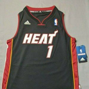 adidas NBA Miami Heat Chris Bosh #1 Youth Jersey